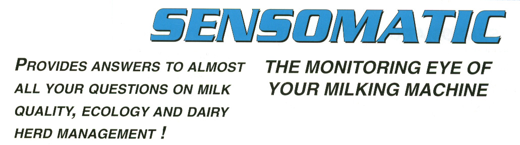 Sensomatic - Monitoring Eye of your Milking Machine